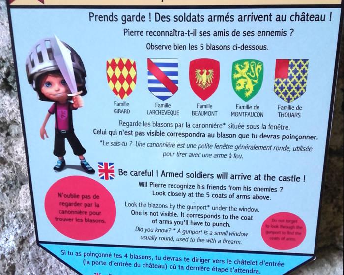 jeu-des-blasons château de Saint Mesmin