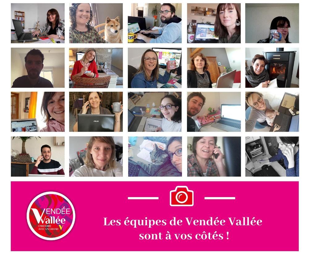 Equipe Vendée Vallée en télétravail